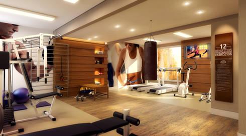 Academia VM: Fitness  por Biehl Arquitetura