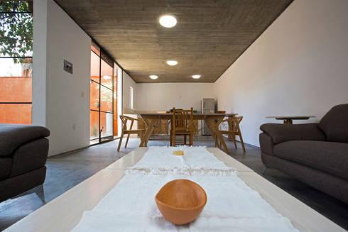 CASA XOCHIMILCO _ II: Salas de estilo moderno por rOOtstudio