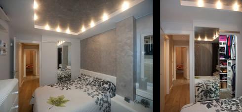 Vaciados en techos, toque de elegancia en un dormitorio: Dormitorios de estilo moderno de Artebasik Reformas