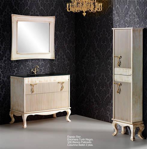 Mueble de baño Ballet de 100 hueso: Baños de estilo rústico de Bañoweb