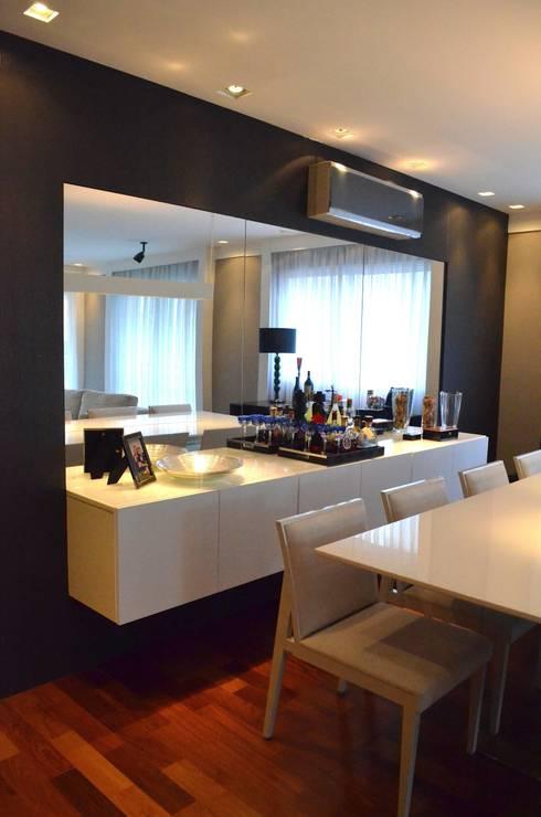 Sala: Salas de jantar modernas por Compondo Arquitetura
