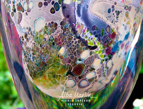 Coloración con plata, por Alba Martín vidrio soplado: Arte de estilo  de Alba Martín Vidrio Soplado