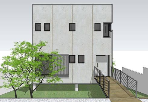 casa MADRID (la morada de un psicólogo): Casas de estilo moderno de Alejandro Ramos Alvelo / arquitecto