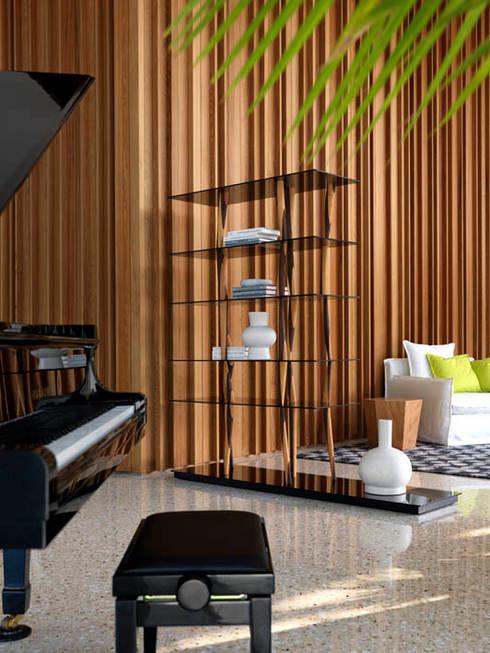 Projekty,  Salon zaprojektowane przez HORM.IT