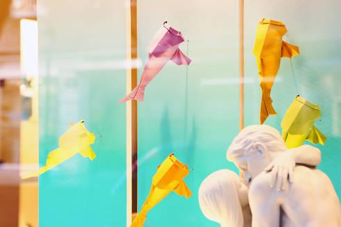 Summer 2014 para escaparates Lladró Boutiques Internacional: Espacios comerciales de estilo  de empaperart