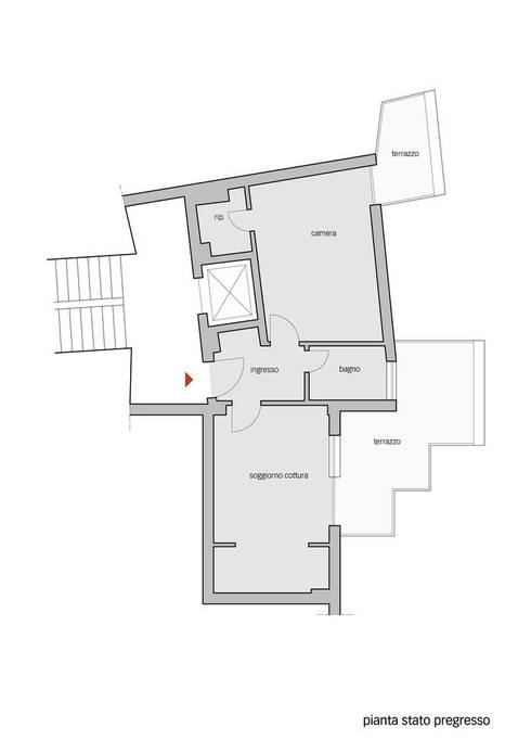 Pianta stato pregresso:  in stile  di Lorenzo Rossi | Architetto
