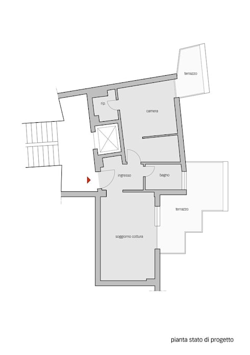Pianta stato di progetto:  in stile  di Lorenzo Rossi | Architetto