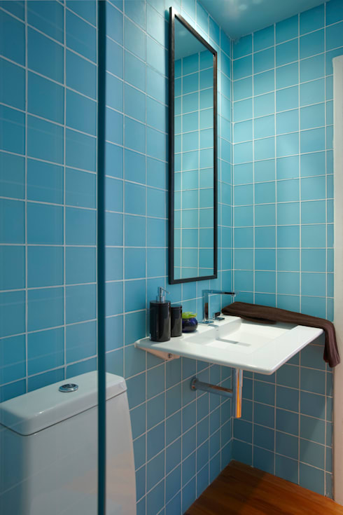 Casa Cor MG 2011: Banheiros ecléticos por Nara Cunha Arquitetura e Interiores