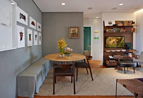 Casa Cor MG 2011: Salas de jantar ecléticas por Nara Cunha Arquitetura e Interiores