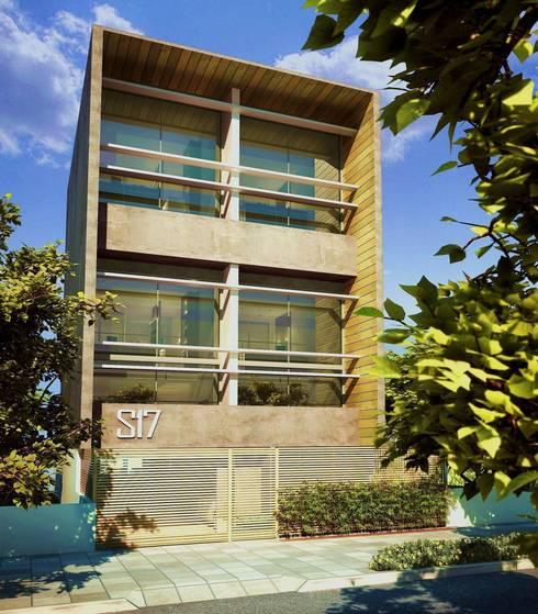S17 LOFTS - Edificio Residencial Porto Alegre / Brasil: Casas modernas por hola