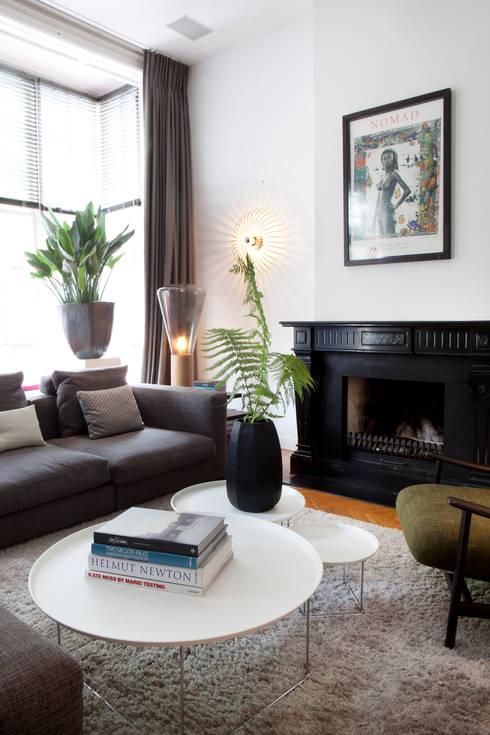 Familiehuis, Amsterdam Zuid: eclectische Woonkamer door Binnenvorm