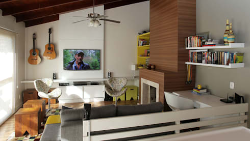Sala de Estar: Salas de estar modernas por Quadrilha Design Arquitetura