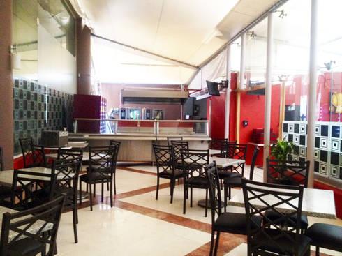 Restaurante Banobras : Edificios de Oficinas de estilo  por Spazio3Design
