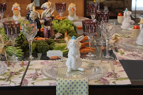Páscoa: Sala de jantar  por Vamos Receber