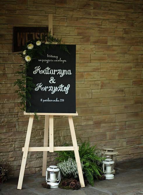 Dekoracja - Ślub 2: styl , w kategorii  zaprojektowany przez Akuratnie