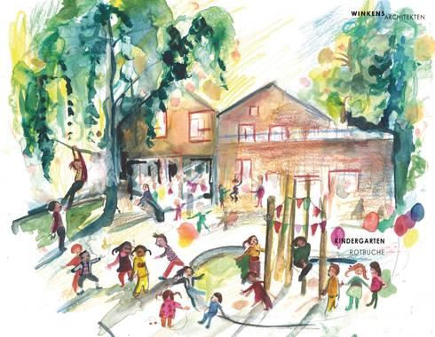 Küche küche rotbuche : Kindergarten Rotbuche von Winkens Architekten | homify