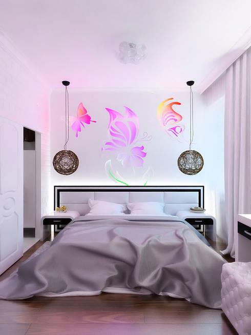 Bedroom by Дизайн студия Александра Скирды ВЕРСАЛЬПРОЕКТ