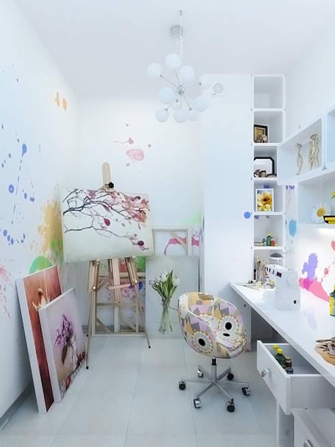 Study/office by Дизайн студия Александра Скирды ВЕРСАЛЬПРОЕКТ