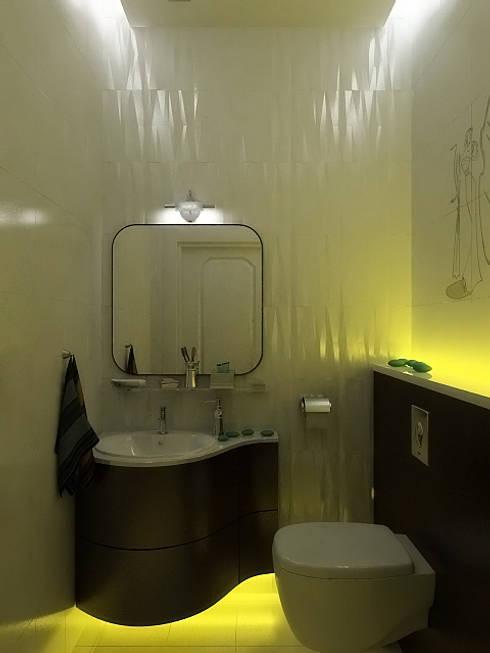 Bathroom by Дизайн студия Александра Скирды ВЕРСАЛЬПРОЕКТ
