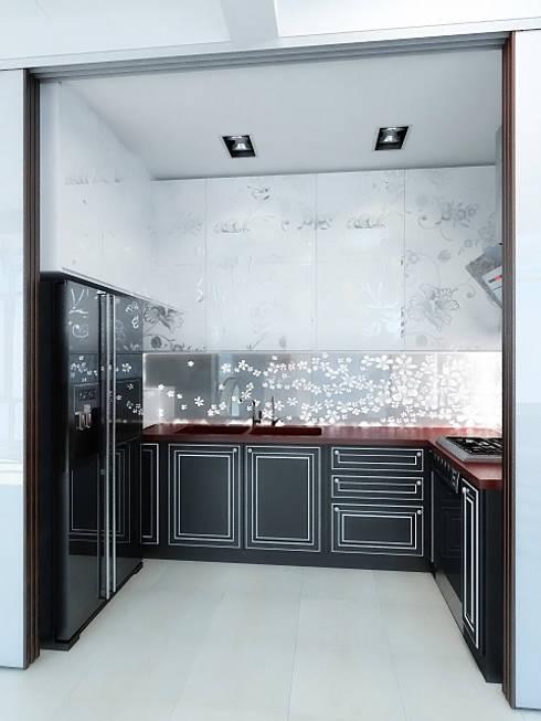 Kitchen by Дизайн студия Александра Скирды ВЕРСАЛЬПРОЕКТ