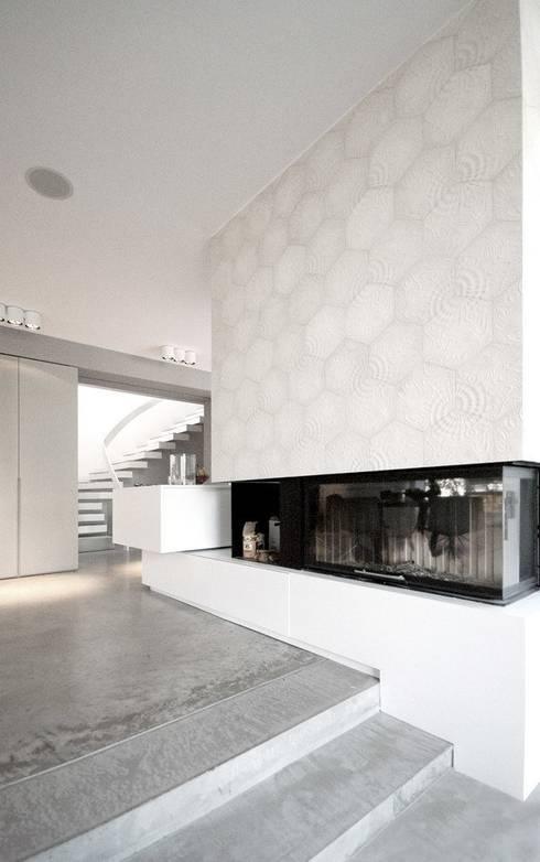 Villa Mainblick, Taunus:  Flur & Diele von cma cyrus I moser I architekten BDA