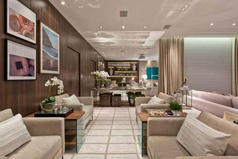Estar Íntimo: Salas de estar minimalistas por Viviane Loyola Arquitetura e Interiores