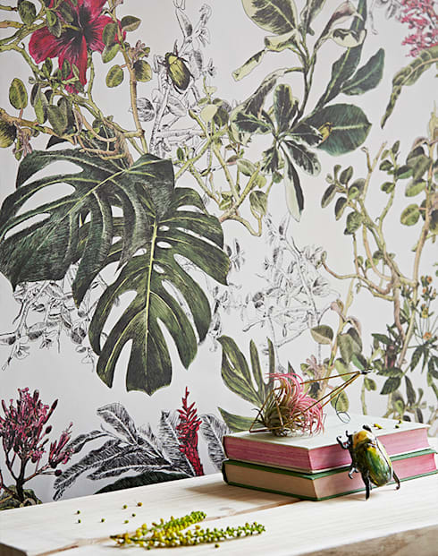 Summer Tropical Bloom:  Walls & flooring by Sian Zeng