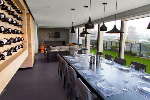Departamento D-CH: Comedores de estilo moderno por Concepto Taller de Arquitectura
