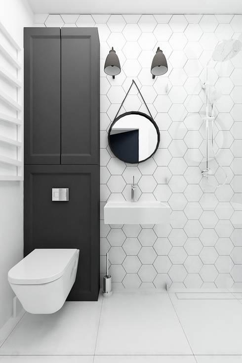 Banheiros ecléticos por I Home Studio Barbara Godawska