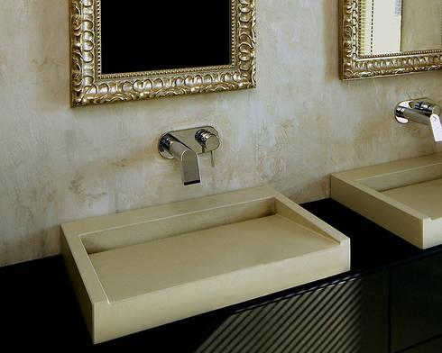 beton waschbecken por oggi beton homify. Black Bedroom Furniture Sets. Home Design Ideas