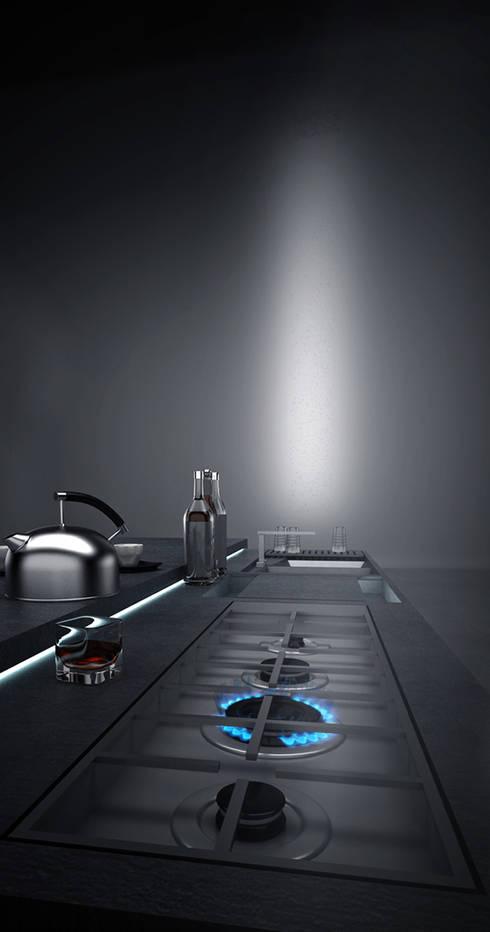 INTERMARMOR-MENZIONE SPECIALE DELLA GIURIA: Cucina in stile in stile Minimalista di alessandro mimiola