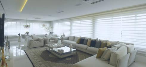 ESTAR EM LUXO: Salas de estar modernas por Motta Viegas arquitetura + design