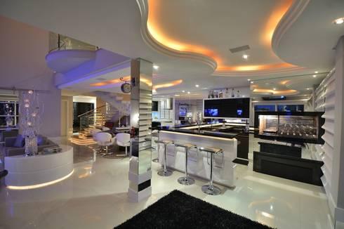 Recanto ao natural: Salas de estar modernas por Paulinho Peres Group
