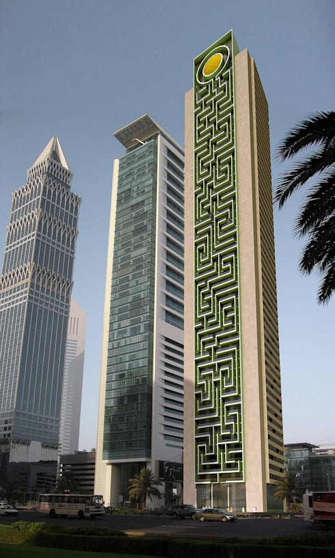 rostamani tower dubai by planquadrat elfers geskes kr mer homify. Black Bedroom Furniture Sets. Home Design Ideas