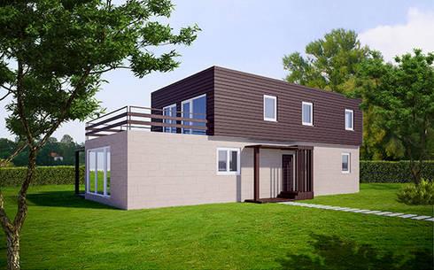 Modelos 2015 casas cube de dos plantas von casas cube - Cube casas prefabricadas ...