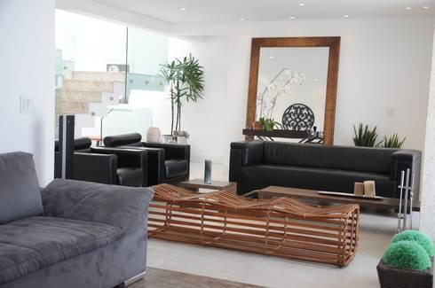 CASA SWISS PARK I: Salas de estar modernas por Renata Amado Arquitetura de Interiores