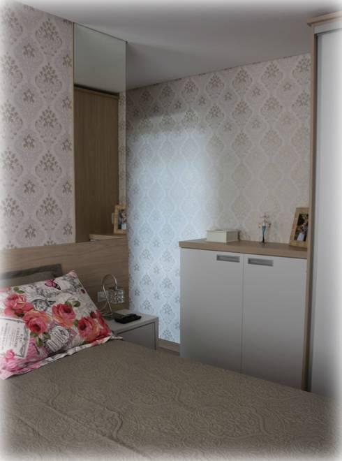 Dormitório Casal: Quartos  por Tuti Arquitetura
