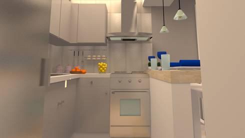AV. CENTRAL: Cocinas de estilo moderno por ARDIN INTERIORISMO