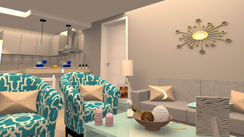 AV. CENTRAL: Salas de estilo moderno por ARDIN INTERIORISMO