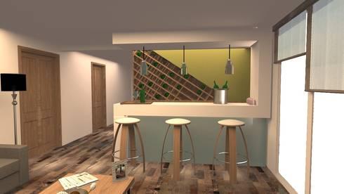 NIEVES: Salas de estilo moderno por ARDIN INTERIORISMO