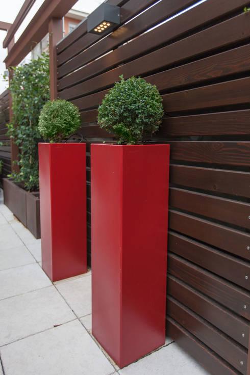 Attico a Torino : Terrazza in stile  di silvia delpiano studio e progettazione giardini