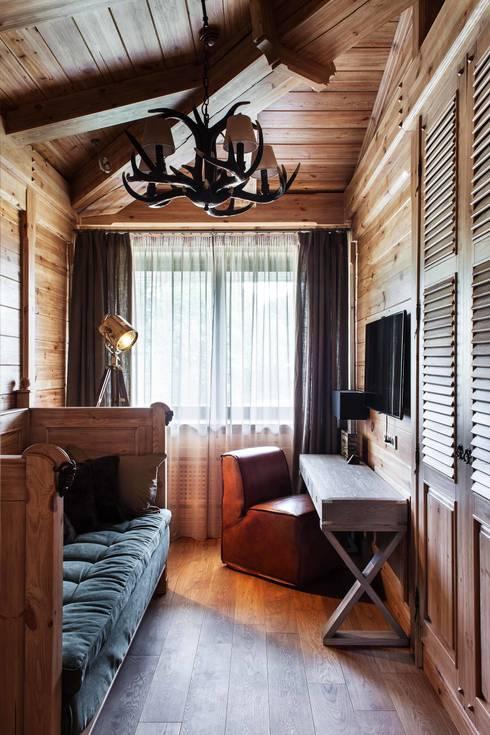 Шале: Спальни в . Автор – Архитектор Татьяна Стащук