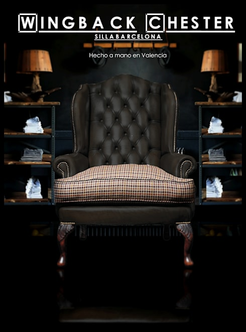 Sillón Chesterfield wing backchair: Salones de estilo clásico de SILLABARCELONA