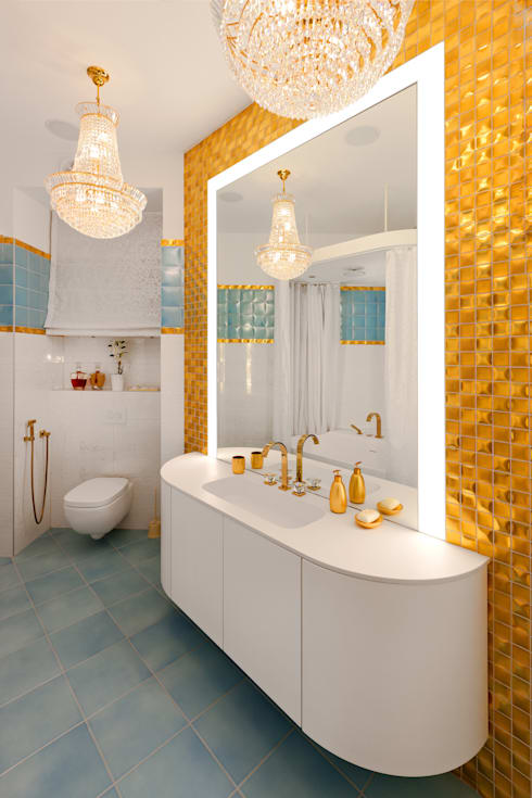 Banheiros ecléticos por Format A5 Fontanka