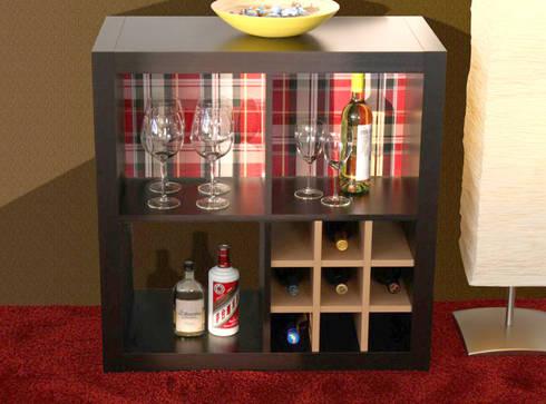 Ikea regal expedit birke  KALTERN - Flascheneinsatz für Ikea Kallax Regale (Weinregal) von ...