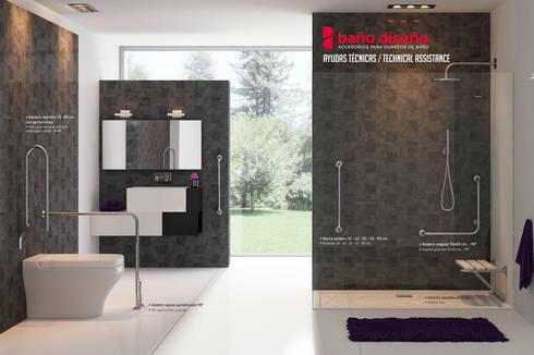 Ayudas técnicas - Accesorios y complementos de Baño Diseño: Baños de estilo moderno de Baño Diseño