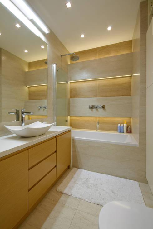 Apartament w Wilanowie: styl , w kategorii Łazienka zaprojektowany przez ZAWICKA-ID Projektowanie wnętrz