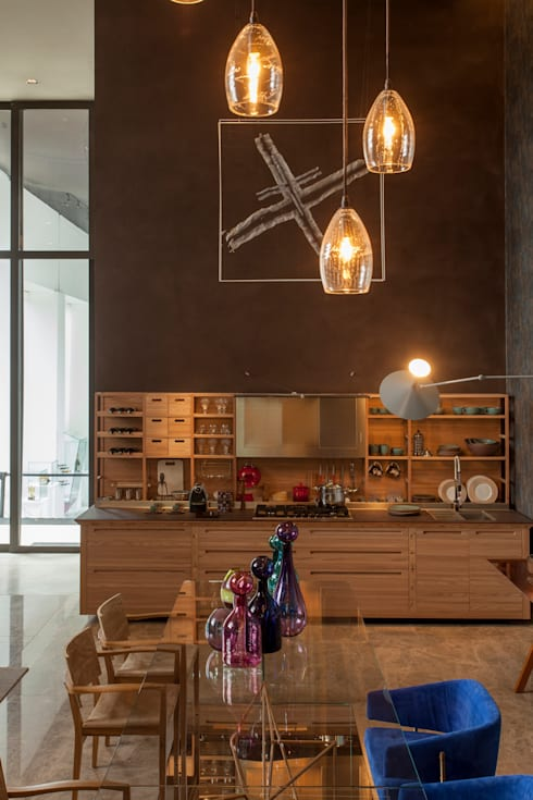 Casa³: Cozinhas  por Denise Barretto Arquitetura