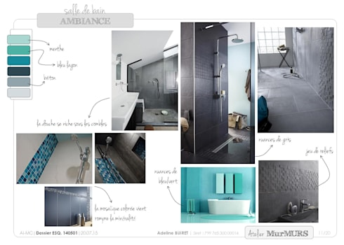 Salle de bain sous combles von Atelier MurMURS | homify