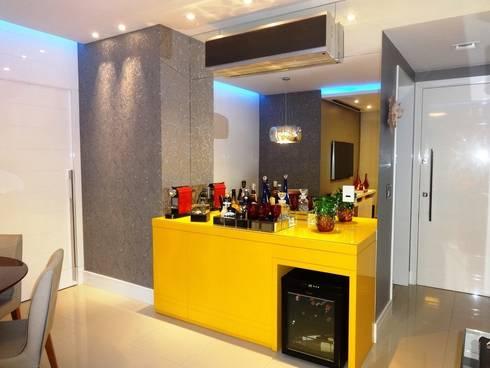 Sala de jantar: Salas de jantar modernas por Lúcia Vale Interiores